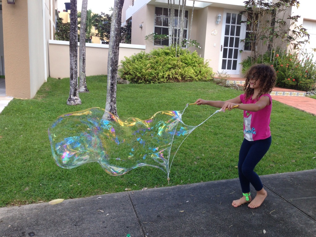 We make huge bubbles.