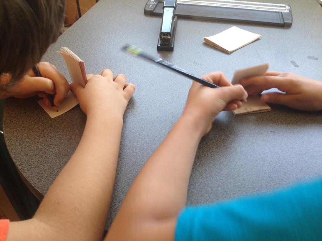 Working on our first flipbook project.